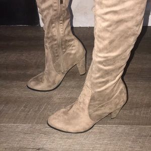 Taupe thigh- high Nordstrom boots